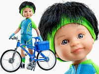 Лялька Кармело велосипедист 32 см Paola Reina 04659, фото 1