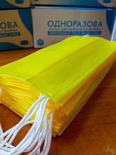 Защитные медицинские Маски захисні Желтые Жовті медичні. Коробка 50шт
