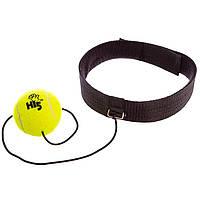 Тенісний м'яч на резинці боксерський Fight Ball (пневмотренажер)з пов'язкою на голову
