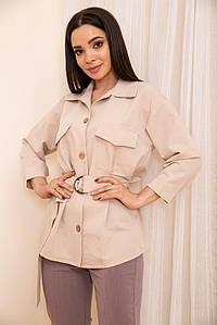 Рубашка женская 115R399-1 цвет Светло-бежевый