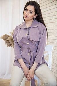 Рубашка женская 115R399-1 цвет Светло-фиолетовый