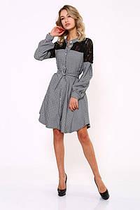 Платье женское 112R463 цвет Черно-белый