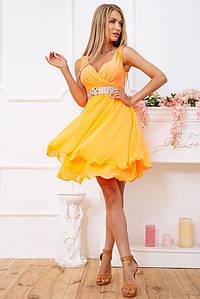 Платье 167R854 цвет Оранжевый