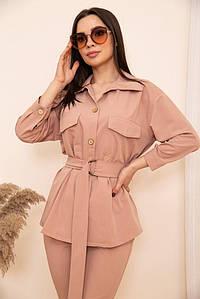 Рубашка женская 115R399-1 цвет Темно-пудровый
