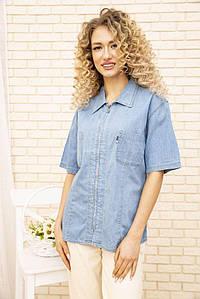 Джинсовая рубашка жен 123R1934 цвет Голубой