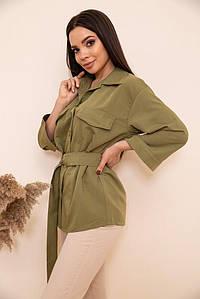 Рубашка женская 115R399-1 цвет Хаки