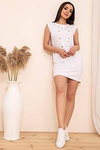Платье 167R22-2 цвет Белый