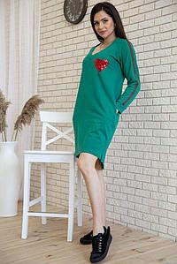 Платье 167R25-3 цвет Зеленый