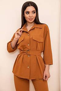 Рубашка женская 115R399-1 цвет Коричневый