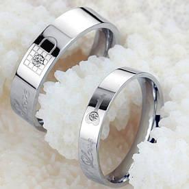 """Парные кольца """"Хранители Преданности"""" [жен. 15.9 18.2 19.0 20.0 муж. 18.2 20.0 20.7 размеры в наличии]"""