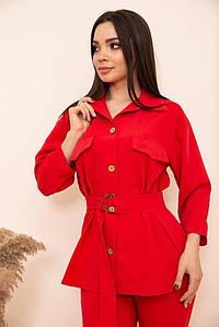 Рубашка женская 115R399-1 цвет Красный