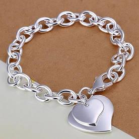 """Браслет в стиле Tiffany """"Двойное сердце"""""""