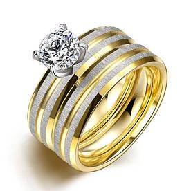 """Парные кольца из нержавеющей медицинской стали """"Любовь навсегда"""" [жен. 18.2 19.0 муж. 16.5 размеры в наличии]"""
