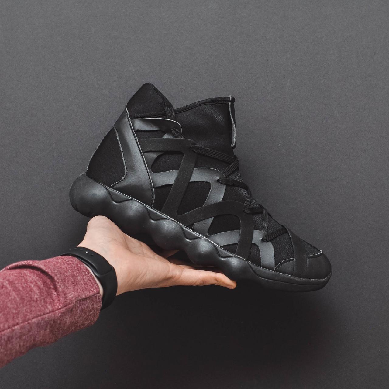Чоловічі літні чорні кросівки на шнурках. Літні чоловічі текстильні кроси