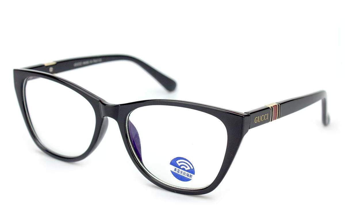 Очки компьютерные Blue blocker, очки для компьютера, очки для работы за компьютером, чёрный пластик, Gucci