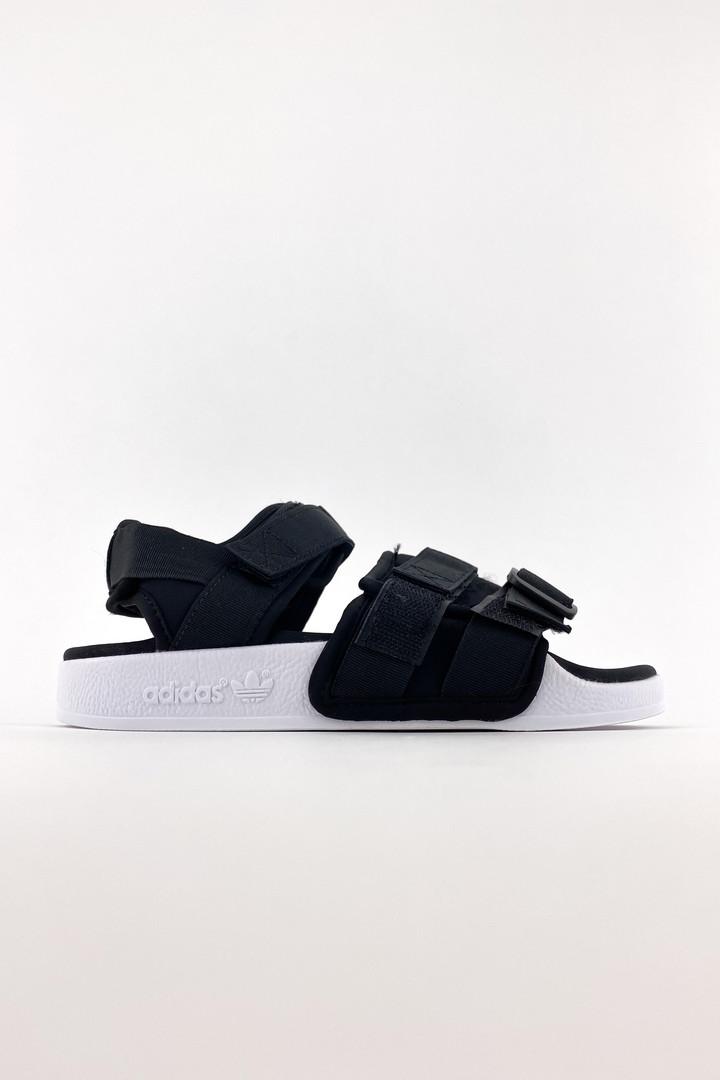 Adidas мужские летние черные сандалии. Летние мужские текстильные сандалии.