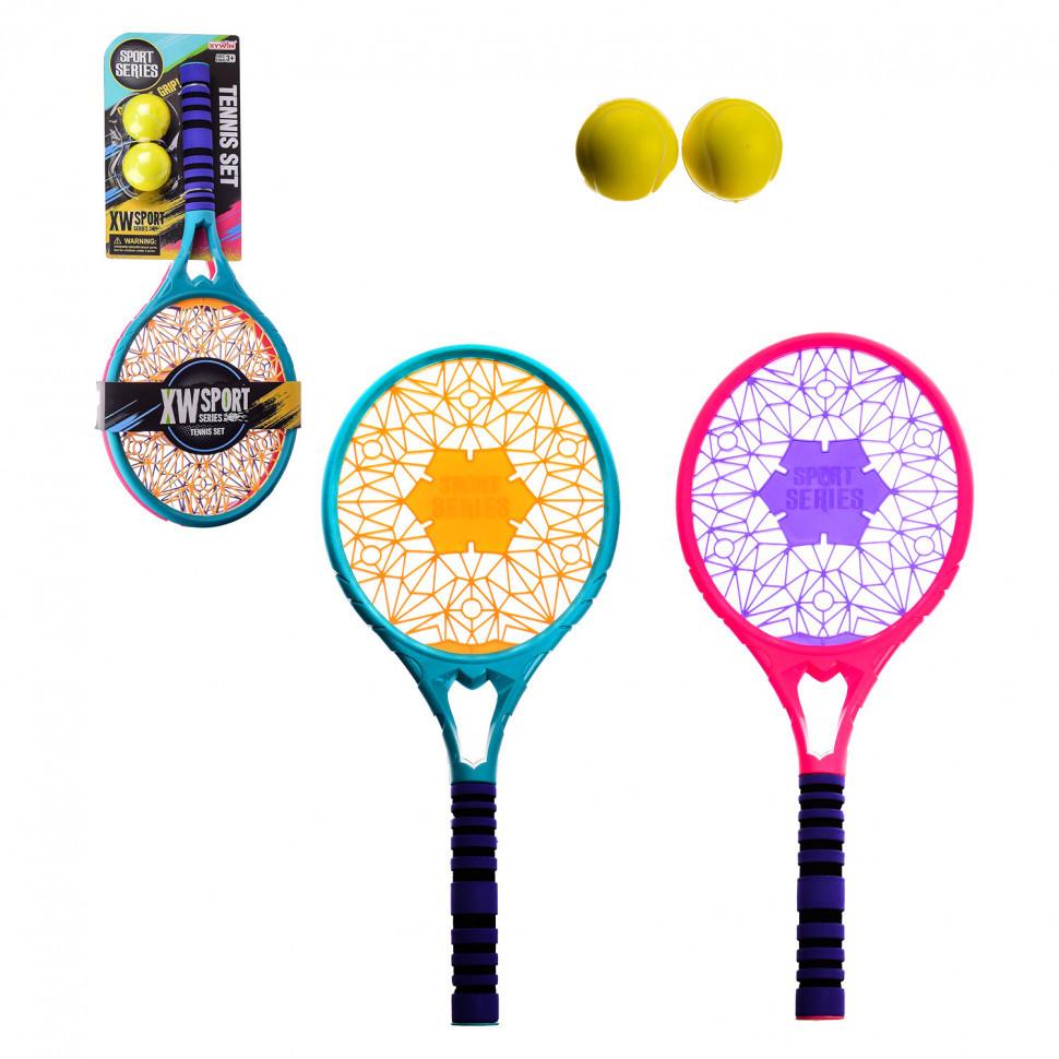 """Игровой набор """"Тенис""""  9912 26х58 см 2 мячика"""