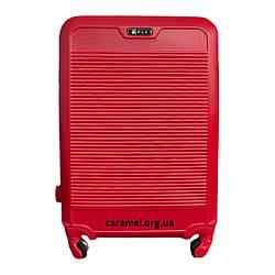 Чемодан пластиковый на 4х колесах средний M красный   25х65х42 см   3.150 кг   62 л   FLY 1093