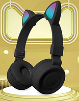 Беспроводные Bluetooth наушники со светящимися кошачьими ушками Cat Ear BK-38M Черные