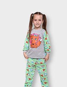 Дитяча піжама для дівчинки з малюнком Лисичка кулір