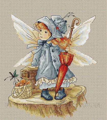 """Набор для вышивания крестом """"Luca-s"""" B1110 Фея"""