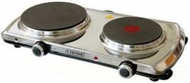 """Електроплита """"Термія"""" ЕПЧЕ 2-3,0/220 (н) (чавунний диск + експрес-конфорка, нержавіюча сталь)"""
