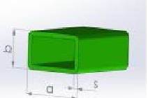 Стеклопластиковая прямоугольная труба PSK-P-2-40x25x3