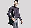 Мужская сумка Polo Videng / Кожаная сумка через плечо + Подарок Мужские наручные часы, фото 8