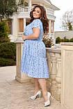 Жіноче літнє плаття Штапель Розмір 48 50 52 54 56 58 60 62 64 66 В наявності 3 кольори, фото 3