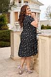 Жіноче літнє плаття Штапель Розмір 48 50 52 54 56 58 60 62 64 66 В наявності 3 кольори, фото 4