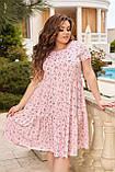 Женское летнее платье Штапель  Размер 48 50 52 54 56 58 60 62 64 66 В наличии 3 цвета, фото 6