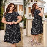 Жіноче літнє плаття Штапель Розмір 48 50 52 54 56 58 60 62 64 66 В наявності 3 кольори, фото 8