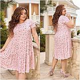 Жіноче літнє плаття Штапель Розмір 48 50 52 54 56 58 60 62 64 66 В наявності 3 кольори, фото 9