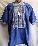 """Вышиванка мужская """"Росана"""" с коротким рукавом из натуральной ткани 46-56 размер"""