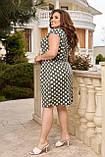 Жіноче плаття з відрізною талією Віскоза Розмір 48 50 52 54 56 58 60 62 64 66 В наявності 6 кольорів, фото 2