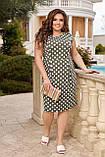 Жіноче плаття з відрізною талією Віскоза Розмір 48 50 52 54 56 58 60 62 64 66 В наявності 6 кольорів, фото 5