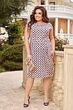 Жіноче плаття з відрізною талією Віскоза Розмір 48 50 52 54 56 58 60 62 64 66 В наявності 6 кольорів, фото 6