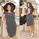 Жіноче плаття з відрізною талією Віскоза Розмір 48 50 52 54 56 58 60 62 64 66 В наявності 6 кольорів, фото 8