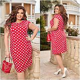 Жіноче плаття з відрізною талією Віскоза Розмір 48 50 52 54 56 58 60 62 64 66 В наявності 6 кольорів, фото 9