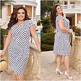 Жіноче плаття з відрізною талією Віскоза Розмір 48 50 52 54 56 58 60 62 64 66 В наявності 6 кольорів, фото 10