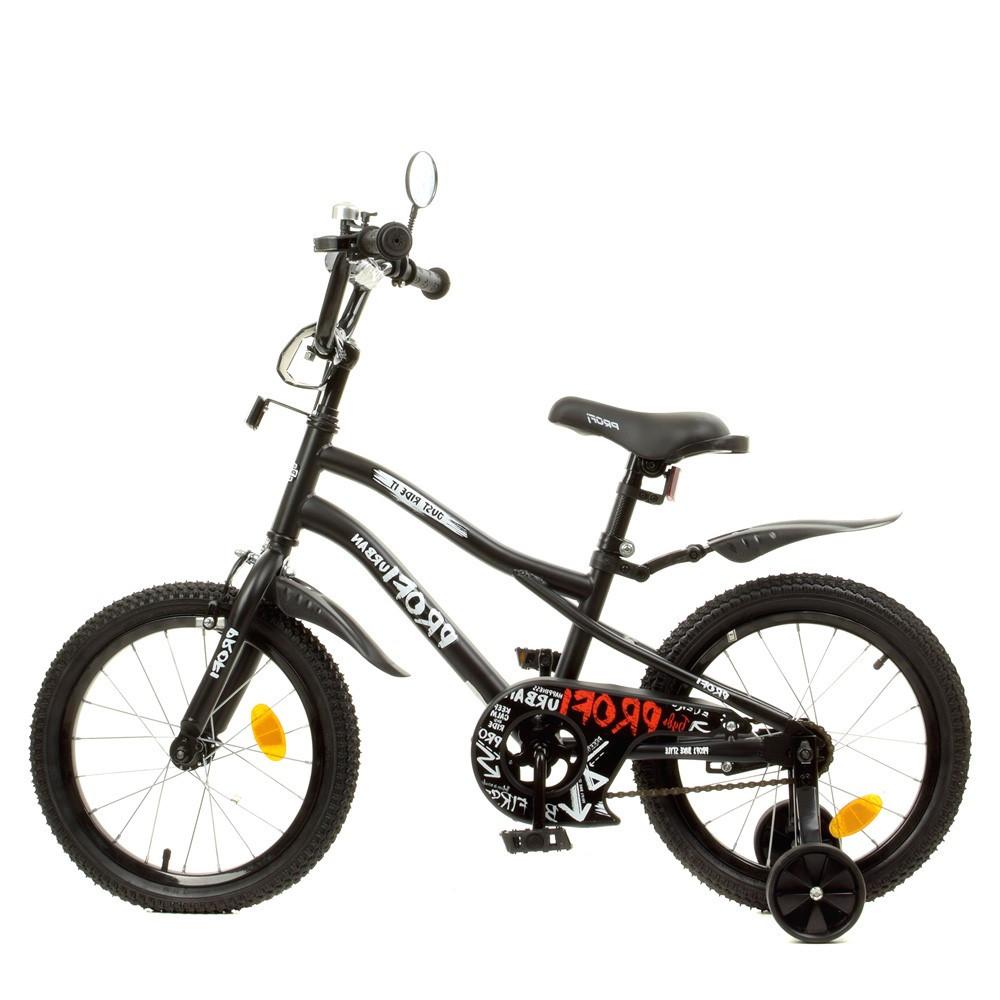 Влосіпед двоколісний для дітей 7-10 років, колеса 18 дюймів, сталева рама, доп колеса, матовий, PROF1 Y18252-1