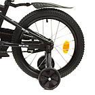 Влосіпед двоколісний для дітей 7-10 років, колеса 18 дюймів, сталева рама, доп колеса, матовий, PROF1 Y18252-1, фото 4