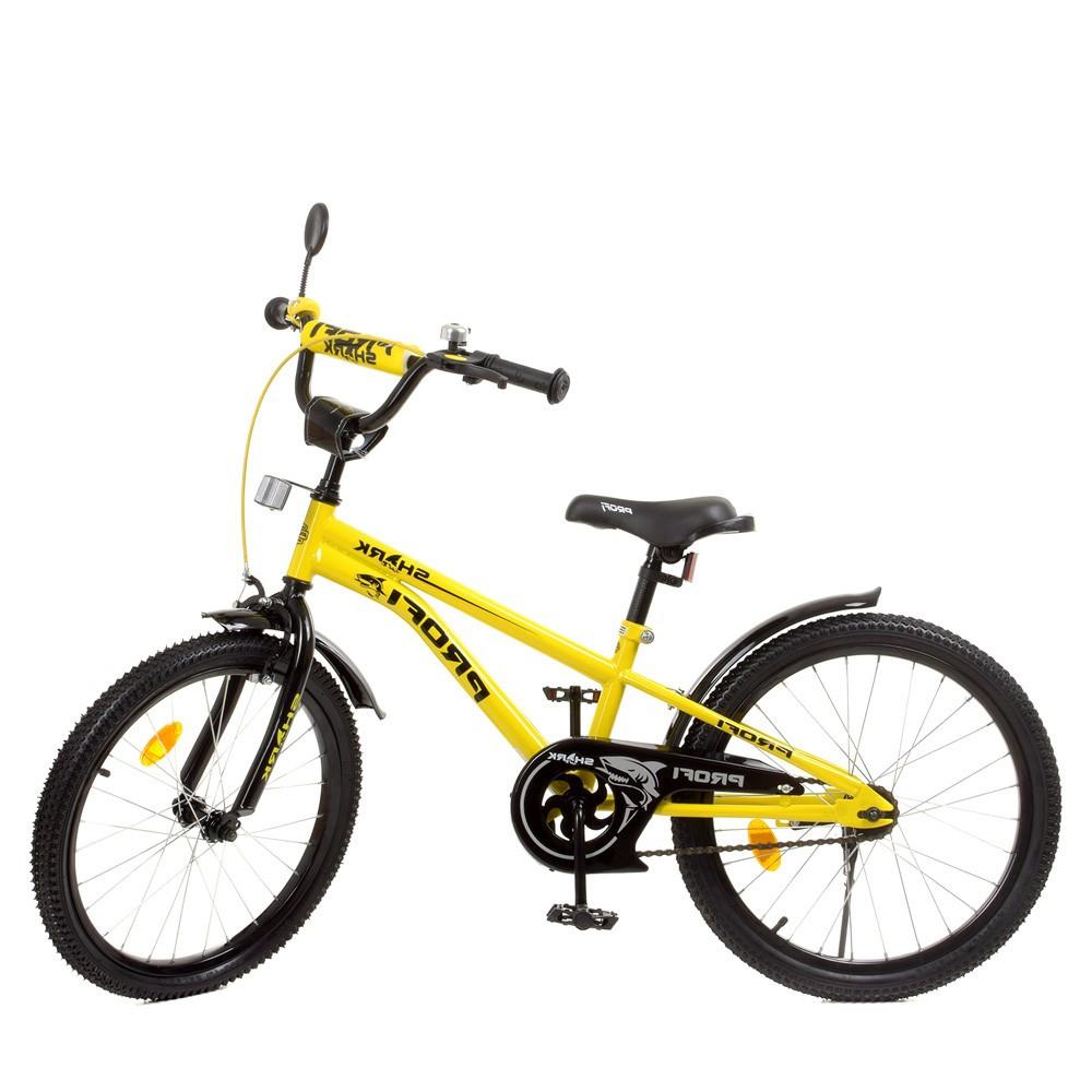 Влосипед двухколесный для детей 7-10 лет, колеса 20 дюймов, стальная рама, подножка, звонок, PROF1 Y20214-1