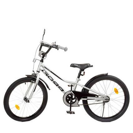 Влосипед двухколесный для детей 7-10 лет, колеса 20 дюймов, стальная рама, подножка, фонарь, PROF1 Y20222-1