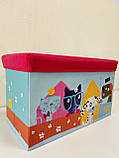 Пуфик ящик для хранения игрушек , Розовый, фото 3