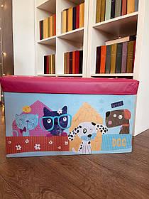 Пуфик ящик для хранения игрушек , Розовый