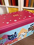 Пуфик ящик для хранения игрушек , Розовый, фото 4