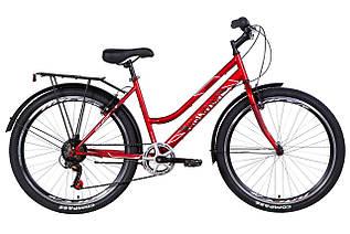 """Велосипед міський жіночий 26"""" Discovery Prestige Woman 2021 рама 17"""" рубіновий"""