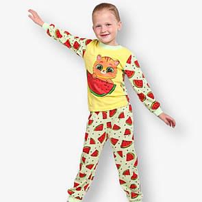 Дитяча піжама для дівчинки з малюнком Котик кулір