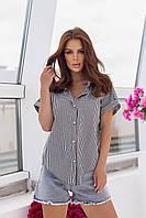 """Сорочка жіноча полубатальная в клітку, розміри 50-56 (3ол) """"MILANI"""" недорого від прямого постачальник"""